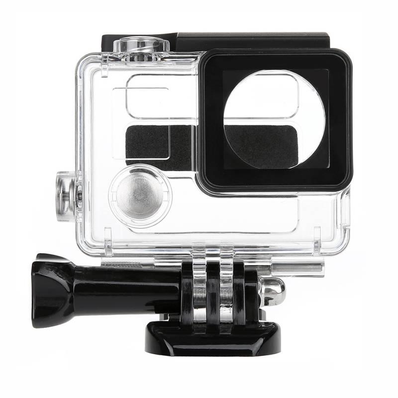 Voor gopro hero 4 waterdichte case Behuizing Cover Mini Stereo microfoon Adapter Mount voor Go Pro H