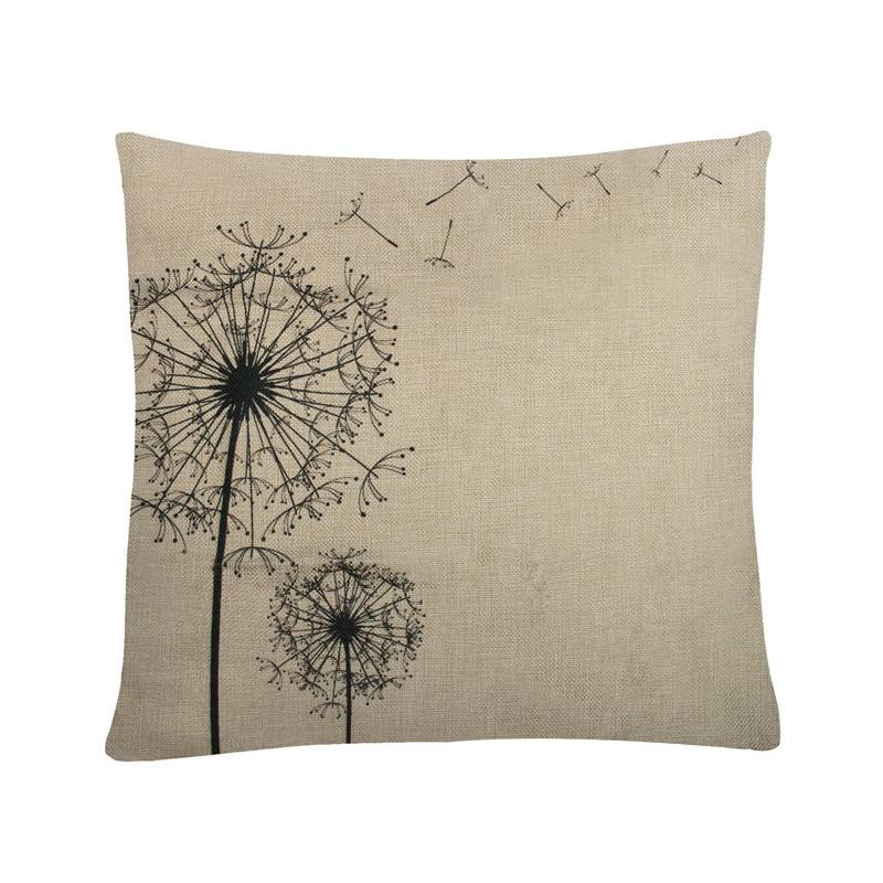 Kussenhoes Katoen Kussen Vierkante Cover Bloem Gedrukt Home Decoratieve Voor Sofa Autostoel Kussens