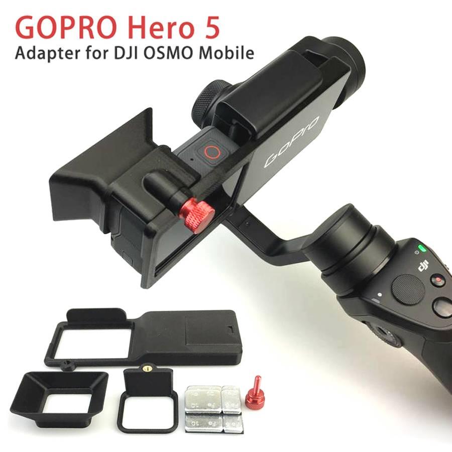 GOPRO Hero 5 Accessoires Adapter Schakelaar Mount Plaat voor DJI OSMO Mobiele Gimbal Camera