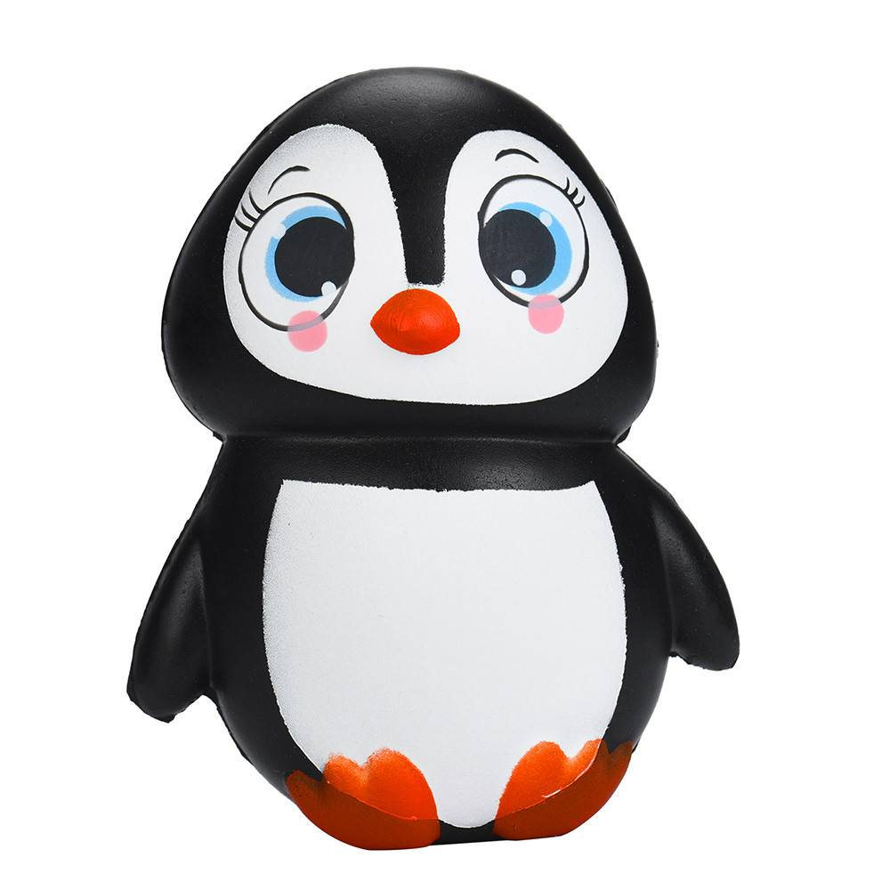 MUQGEW Leuke Mochi Squishy Penguins Squeeze Trage Stijgende Healing Stress Fun Kids Kawaii kids Volwassen Speelgoed Stress Reliever Decor MyXL