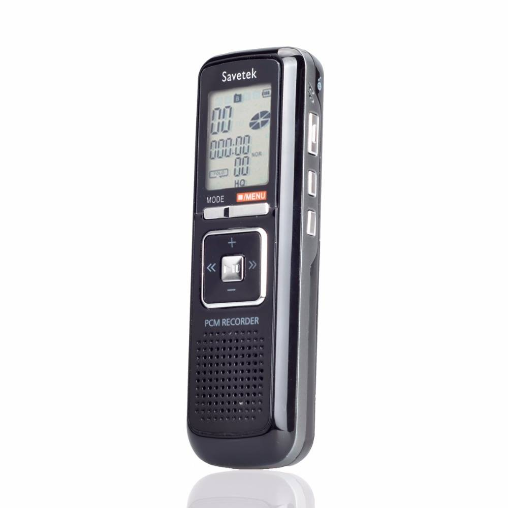 Draagbare 8 GB 384 KBPS Spraakgestuurd 650 h USB Digital Audio Voice Recorder Dictafoon Stereo Mp3-s