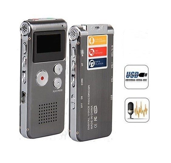 Oplaadbare Externe Mic 4 GB Voice Activated USB Digital Audio Voice Recorder Dictafoon Mp3-speler Te