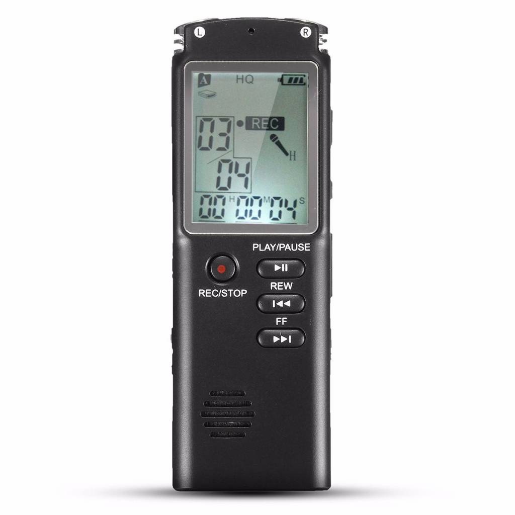 8 GB Draagbare Oplaadbare LCD Digitale Audio Voice Recorder Dictafoon Speler Met Oortelefoon Ingebou