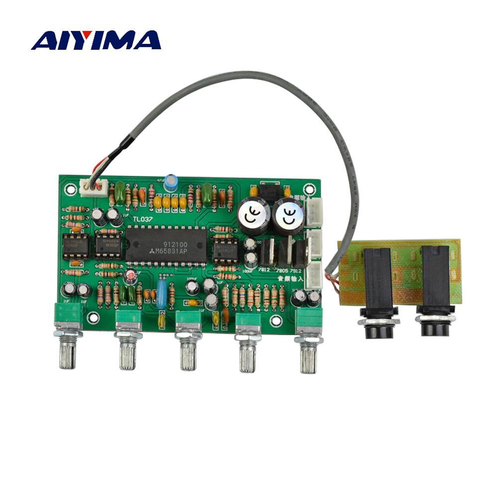 Aiyima 1 ST Voorversterker NE5532 Karaoke Microfoon Versterker Board Voorversterker Bass Tweeter Sou