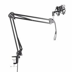 MyXL Neewer Broadcast Studio Microfoon Suspension Boom Scissor Arm Stand met Shock Mount en XLR Man-vrouw Kabel