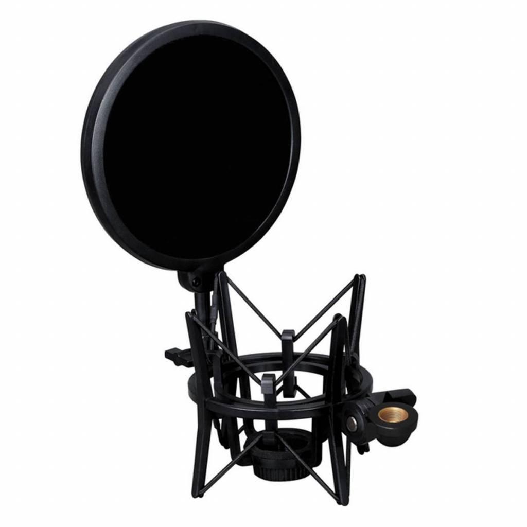 Professionele microfoon houder met ge�ntegreerde microfoon Mic pop shield pop filter