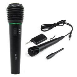 MyXL 2 in 1 Wired & Wireless Handheld Microfoon Wireless & Wired Microfoon Ontvanger Unidirectionele Zwart