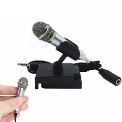 MyXL Draagbare Mini smart microfoon, Stereo Condensator Microfoon voor voor mobiele telefoon PC Laptop Chatten Zingen Karaoke 3.5mm set