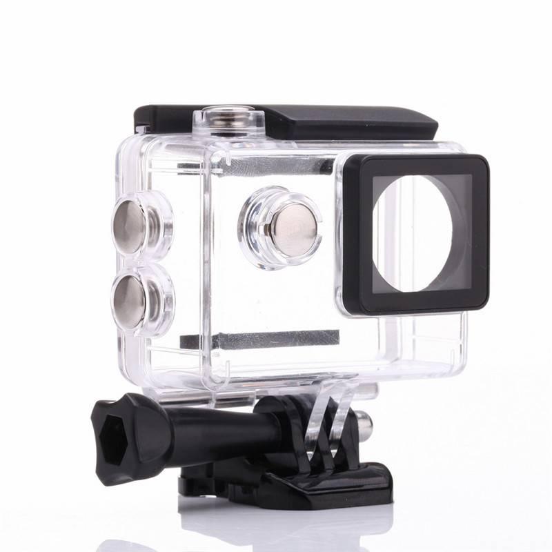 Action outdoor camera box duiken waterdichte behuizing case voor sjcam 4 k sj8000 sj9000 eken 4 k h9