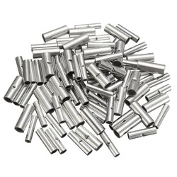MyXL 100 Stks/partij Butt Splice Connectors 10mm Koperen 22-10AWG Vertind Splice Crimp Terminal Mouwen Kabel Krimpkous Sleeving Kits