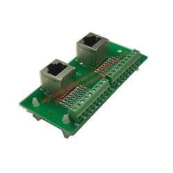 MyXL RJ45 8P8C Breakout Board RJ45 Jacks RJ45 naar terminal block adapter en 2*8 pins terminal blokken horizontale en verticale socket