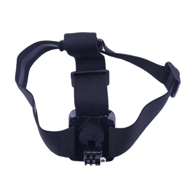 Verstelbare Helm Hoofd Mount Strap Head Riem voor GoPro Hero Xiaomi YI Action Camera Houder Adapter