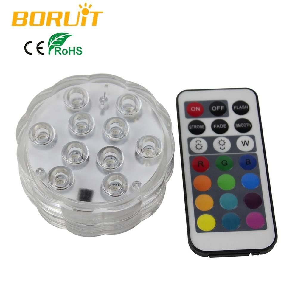 1 Set Afstandsbediening Kleurrijke Elektrische LED Kaarsen Plastic Onderwater Aquarium Licht Voor Ni