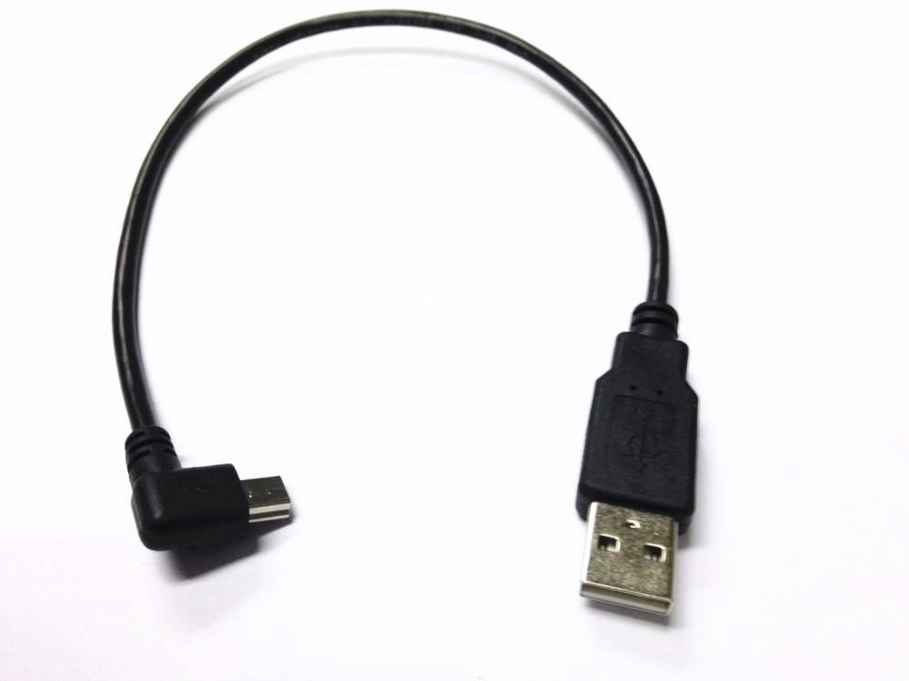USB Mini 5Pin 5 P haakse Male naar USB 2.0 A Stekker Kabel 0.2 m Oplader Kabel voor Chromecast