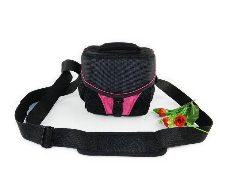 Roze foto pocket dslr slr camera bag case voor nikon canon sony fuji olympus samsung leica