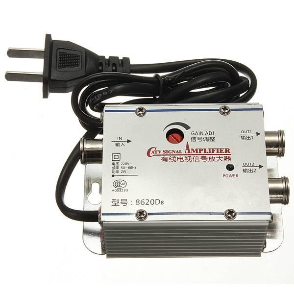2 Way CATV Kabel TV Signaal Versterker AMP Antenne Booster Splitter Set Breedband