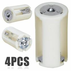 MyXL 4 stksCollectie Batterij Doos 3x AA naar D Formaat Batterij Adapter Converter Houder Switcher Case Box voor Batterij opslag