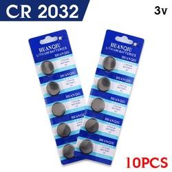 MyXL 10 stks/partij CR2032 BR2032 DL2032 lir ml2032 L2032 CR 2032 cr-2032 Lithium Ion 3 V Knoopcel Batterij Coin voor switch