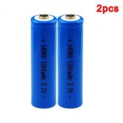 MyXL Centechia 2 Stks Hoge Capaciteit 14500 Batterij 3.7 V 1300 Mah Oplaadbare Batterij Voor Led Zaklamp