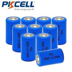 MyXL 10 stks/partij pkcell 1/2 aa batterij 3.6 v er14250 14250 1200 mah lisocl2 lithium batterij batterijen voor gps