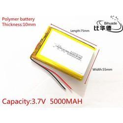 MyXL SD 3.7 V 5000 mAh 105575 Lithium Polymeer LiPo Oplaadbare Batterij Voor PSP GPS DVD PAD E-book