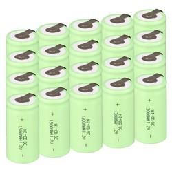 MyXL Russische verkoper20 STKS een set Sub C SC batterij 1.2 V 1300 mAh Ni-Cd NiCd Oplaadbare Batterij 4.25 CM * 2.2 CM-Groene Kleur