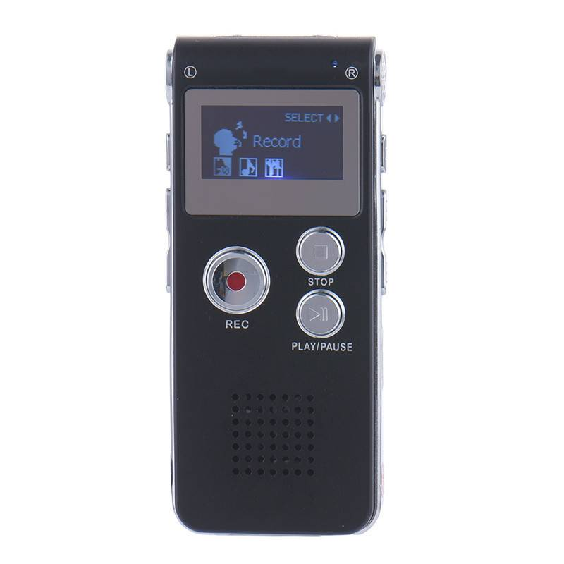 Oplaadbare 8 GB Mini USB Flash Digital Audio Sound Voice Recorder 650Hr Dictafoon Dictafoon Mp3-spel