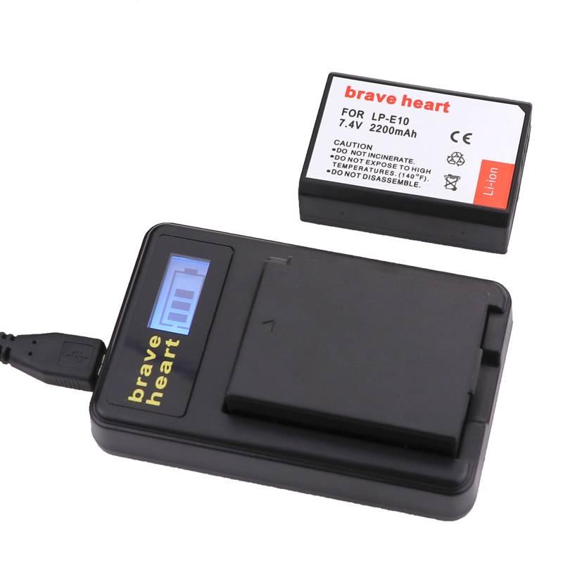 2x LP-E10 LPE10 LP E10 Camera Bateria Batterie AKKU + LCD oplader voor canon 1100d 1200d 1300d rebel
