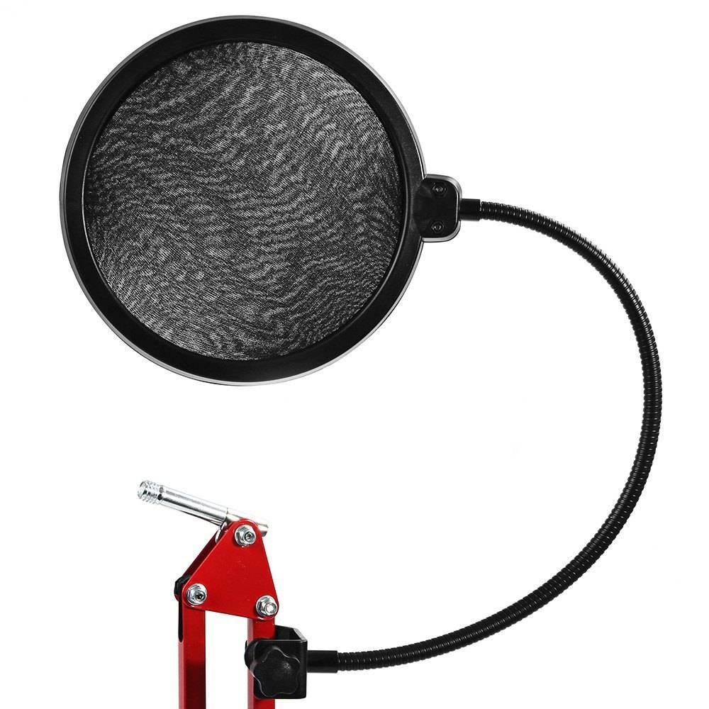 BYNCG voor Studio Microfoon Microfone Mic Wind Screen Pop Filter-Swivel Mount-Masker Teruggeschrokke