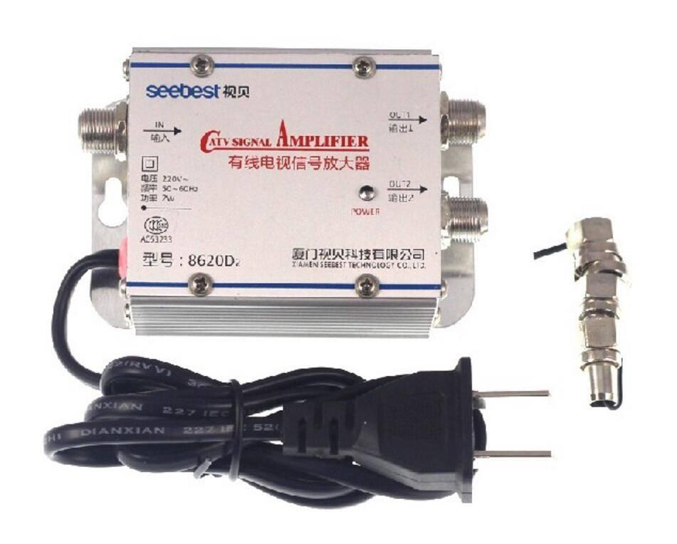 AC 220 V 2 Way CATV Kabel TV Signaal Versterker AMP antenne Booster Splitter Set Breedband Thuis Tv