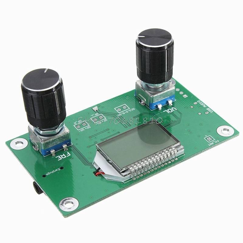 Professionele 87-108 MHz DSP & PLL LCD Stereo Digitale FM Radio Ontvanger Module + Seriële Z09 Drop