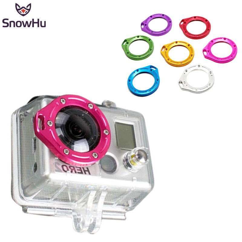 SnowHu voor Gopro Accessoires Mode Kleurrijke Aluminium Lens Kit Set Voor Go Pro Hero 2 TP43