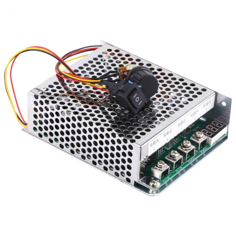 Dc 12v 24v 36v 500w Brushless Motor Controller Hall Balanced Pwm Speed For 300w Cnc Spindle Kits Support Ac And Controler Gouverneur Omkeren Richting Schakelaar Met Digitale Display 10 V 55 60a