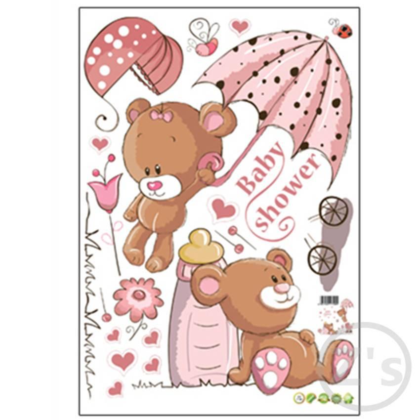 Zs Sticker leuke beer muurstickers kinderkamer nursery home decor baby bears douche adhesive voor ki