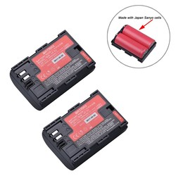 MyXL 2 St Sanyo Cellen LP-E6 LP E6 LPE6N Camera Batterij AKKU voor Canon DSLR EOS 5D Mark II Mark III 60D 60Da 7D 70D 6D Camera accessoire