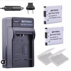 MyXL NB-11L/NB-11LH Ultra Hoge Capaciteit 900 mAh Batterij & Lader voor Canon PowerSA2300 IS, A2400 IS, A2500 Camera (2 pak)