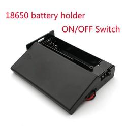 MyXL Zwarte Plastic 18650 Batterij Storage Case 3.7 V Voor 2x18650 Batterijen Houder Box Container Met 2 Slots ON/OFF Schakelaar