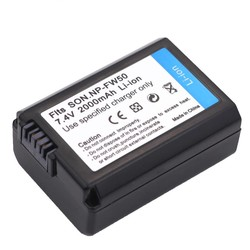 MyXL 7.4 v 2000 mah np-fw50 np fw50 npfw50 digitale camera batterij voor sony alpha a33 nex-c3 nex-5 nex-7 slt-a55, voor sony accessoires