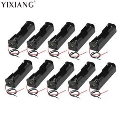 MyXL YIXIANG 5 stks/partij Plastic Batterij Houder Opbergdoos Case 18650 Batterij Met Draad Leads 3.7 V Clip Type 18650 Batterij Holde
