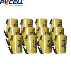 MyXL 12 stks Sub C 4/5SC 1.2 V oplaadbare batterij 1200 mah 4/5 SC mh nimh mobiele met lassen pins tab voor elektrische boor
