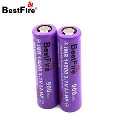 MyXL Bestfire 14500 Batterij 3.7 V 900 mAh 30A Oplaadbare Li voor E Sigaret Zaklamp Led Zaklamp 2 stks/partij