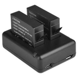 MyXL 2 x ahdbt-401 401 gedecodeerd batterij + usb-oplader voor gopro hero 4 gaan pro 4