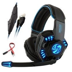 MyXL Noswer I8s PS4 Gaming Hoofdtelefoon Stereo headset met Microfoon 3.5mm adapter Led Light voor PC Computer Laptop Mobiele telefoon Game