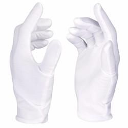 MyXL Neewer 12 Pairs (24 Handschoenen) 100% Katoen Lisle Wit Inspectie Werk Handschoenen voor Coin, sieraden, zilver, of Foto Inspectie