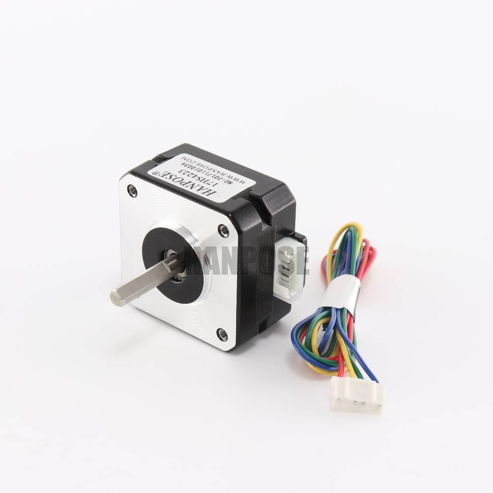 1 stks Stappenmotor 4-lead Nema 17 17hs4223 22mm 42 motor 3D printer extruder voor J-head bowden Tit