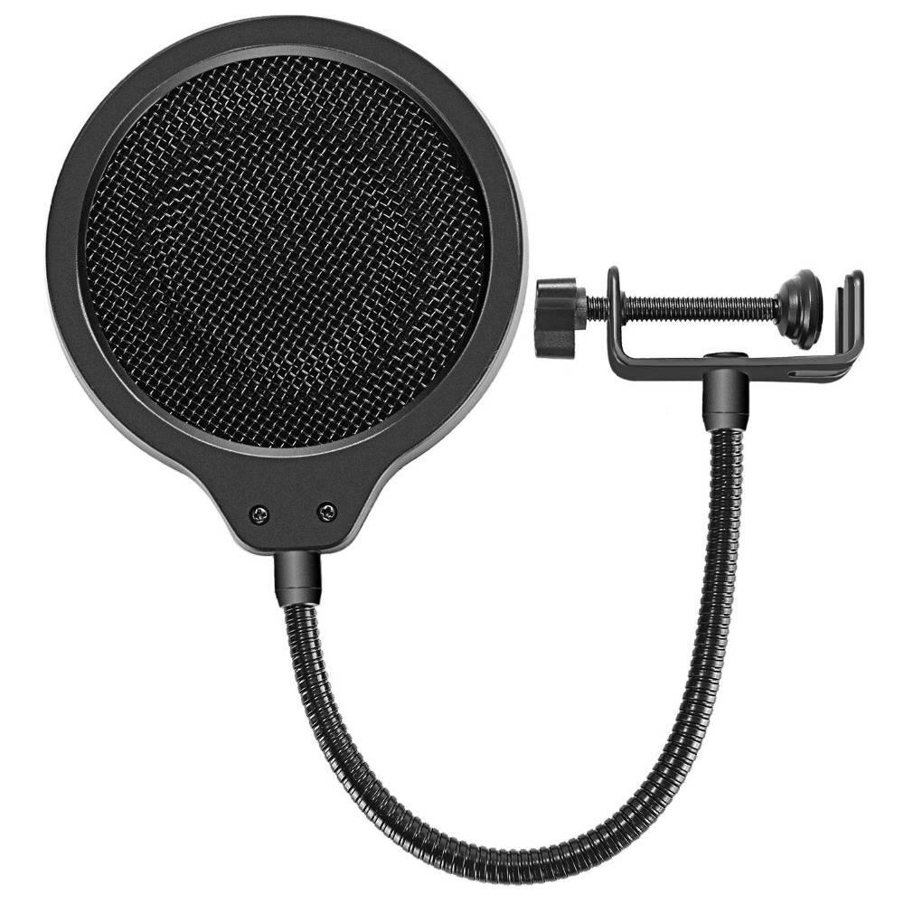 Neewer 4-inch Microfoon Wind Pop Filter Masker pop Shield met Mount Clip voor Blauw Yeti Microfoon A