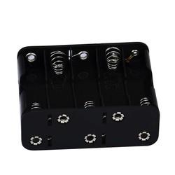 MyXL DEYIOU1 Stks 10 AA 2A Batterij 15 V Clip Holder Box Case Opslag met Draad Leads Zwart H0TB