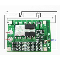 MyXL 3 S 15A 11.1 V 12 V 12.6 V Lithiumbatterij Boord Charger Bescherm Module Balance 18650 Ion Lipo Cell Pack bms pcm