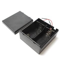 MyXL 2 XD Maat 3 V Plastic Batterij Houder Connector Ingesloten Cover Box OP OFF Schakelaar Met 6 ''Draad leidt Voor Solderen Aansluiten