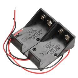 MyXL 2 stks Enkele Slots 1x9 V Batterij Clip Holder Case Box met Wire Leads DIY Batterij Opbergdoos Case Houder